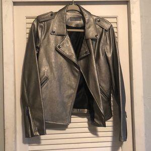 Bagatelle Faux Leather Jacket - Metallic